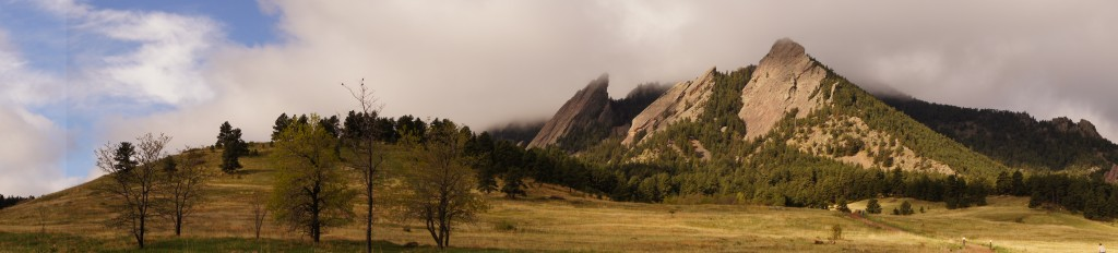 The Flatirons in Clouds