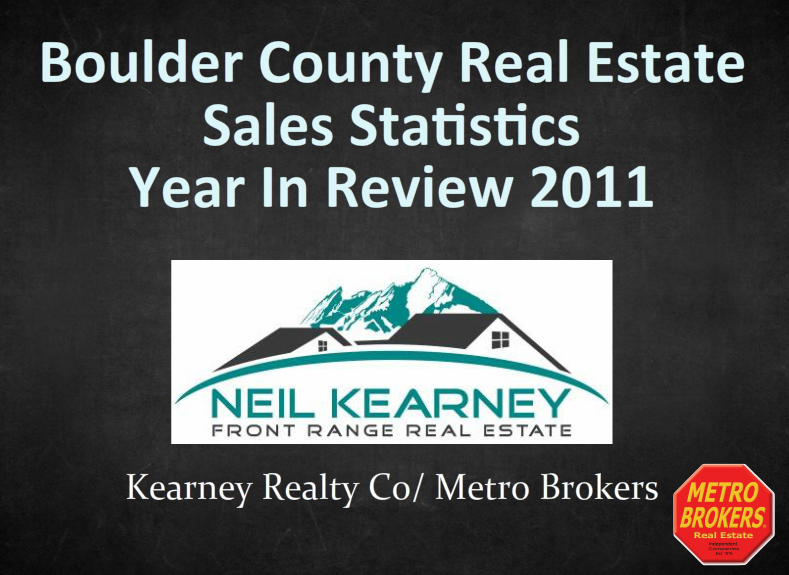 Boulder County Real Estate Statistics – 2011 Year in Review
