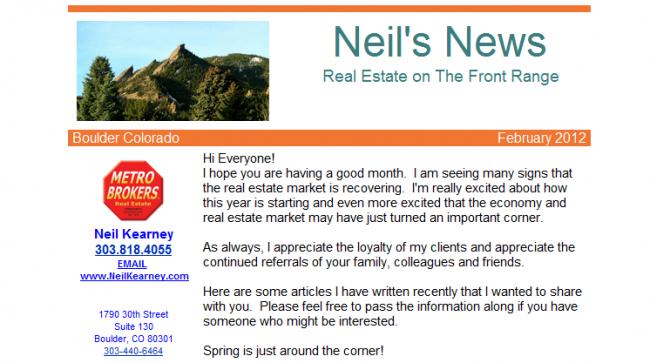 sample email newsletter