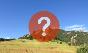 Question Mark over Boulder